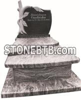 A grade poland new style red granite grave tombstone