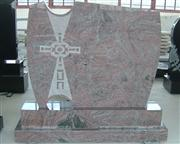 poland style granite carving with cross shadow engraving headstone
