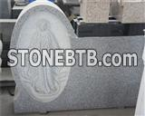 China hot sale granite unique headstones for sale