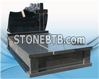 High Quality Granite Headstone Design cross Shaped Tombstone