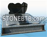 Popular Granite Headstone Design, Heart Shaped Tombstone