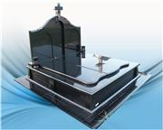 Shanxi black granite gravestone for poland market