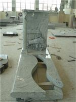 Western style granite tombstone,cheap gravestone with kerbs