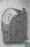 Italy style granite tombstone with  figure carving