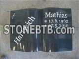 Granite book shaped tablet for tombstone
