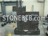 granite cross headstone with hand carving