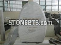 marble oval shaped headstone
