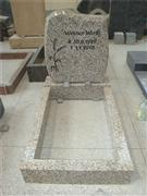 granite suqare top headstone with kerbs