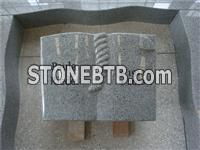 European style granite book tombstone with kerbs