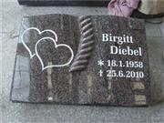 European granite book shape headstone
