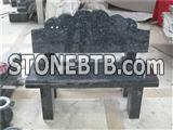 Granite bench in blue pearl for tombstone