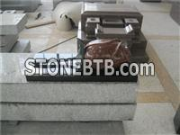 Granite 3D rose carving for tombstone decoration