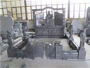 European style granite carved tombstone