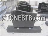 High polished granite gravestone,tombstone in simple design