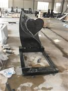 Australia black granite heart shaped monument with kerbs