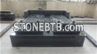 Black granite tombstone,cheap gravestone with cover slab