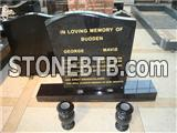 Shanxi black granite headstone for Austrial market