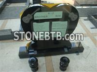 Austrial black granite monument with heart