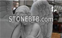 American marble angel headstone tombstone monument
