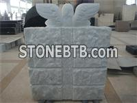 American style marble angel book shaped monument