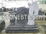 American style granite angel tombstone