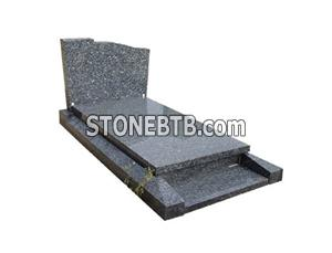 blue pearl granite French tombstone monument