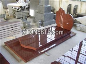 red granite monument tombstone french style tombstone