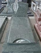 olive green granite tombstone french style monument