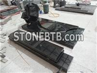 india black granite french style monument tombstone