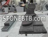 himalayan blue granite monument with litho