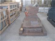 french style monument red granite monuments