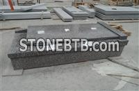 Red granite 664 tombstone