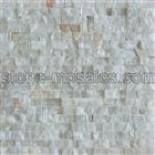 White Onyx Natural Face Mosaic Tile