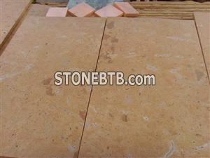 Yellow Limestone Honed Finish