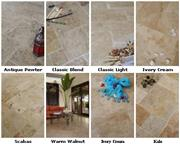Travertine tiles, Honed & Filled