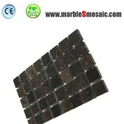 Dark Brown Square Marble Mosaic