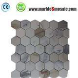 Hexagon Calacatta Gold Marble Mosaic