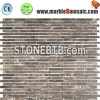 Brown Marble Mosaic Floor Tile