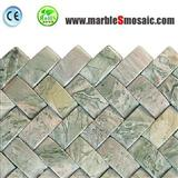 Green Marble Basketweave Mosaic Tile