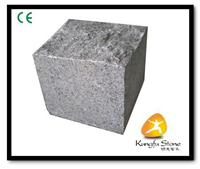 G654 Grey granite cubic stone