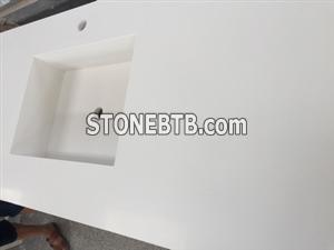 Artificial white quartz countertops