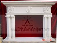 Stone Fireplace Mantle & Surrounds