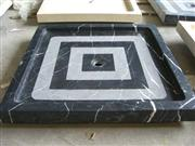 Negro marquina marble shower tray
