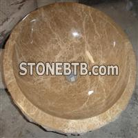 Light Emperador Stone Sink, Stone Basin