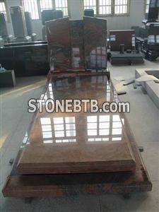 Multicolor Red Granite Monument Tombstone