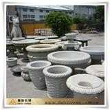 Round granite Flower Pot