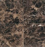 Polished marble floor tile