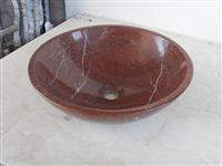 marble stone red basin