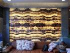 backlit brown onyx glass panel