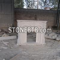 White Marble Fireplace Mentel